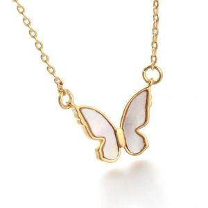 Kate Spade necklace mother of pearl butterfly necklace